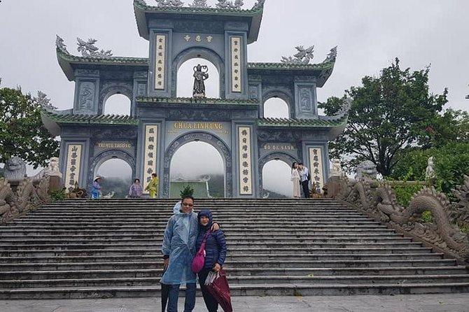 Guided Fullday Tour :Golden Bridge,Dragon Bridge,Marble Mountain,Monkey Mountain, Da Nang, VIETNAM