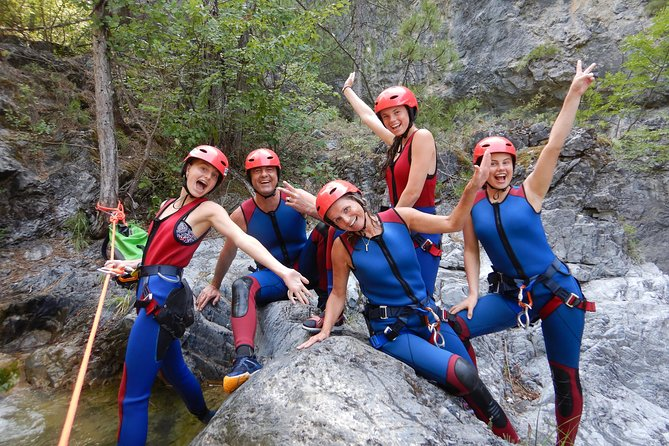 Canyoning on Mount Olympus in one of its several canyons. A canyon suitable for beginners where due to the clear water and deep natural pools is a top local attraction. Enjoy the natural beauty of the rocks formed by the force of the water.<br><br>We have our meeting from 09:00 to start our tour. After a 30min driving, we reach the bottom of the canyon. There we will prepare the necessary equipment and take a safety briefing. We start with a 30min hike along a beautiful forested trail which will lead you straight into the canyon. You don't need to have any prior climbing experience to take part. Guides will teach you essential skills like abseiling, movement, jumps and slides. <br><br>Once you've tried out these new techniques you'll get into a 3-hour descent into the canyon, admiring natural pools and other impressive views on the way. A brief stop before the final and adventurous part of the activity.