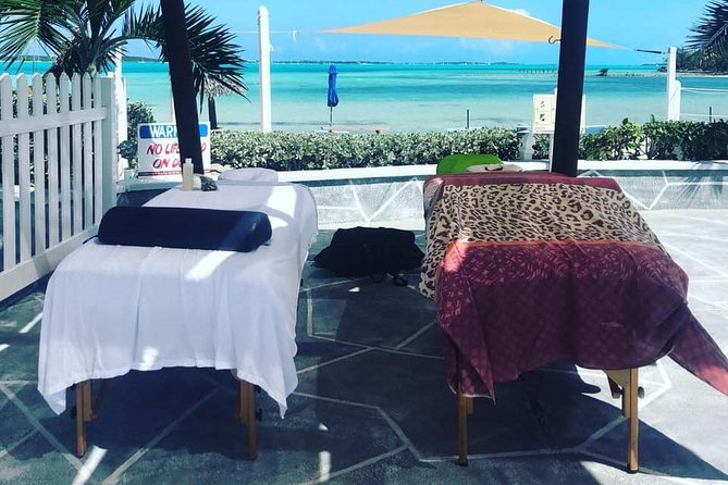 Enjoy Exuma a beach Massage listening to the waves and enjoying our beautiful turquoise waters. Book with us.