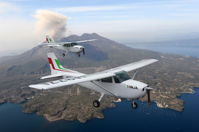Marvel at the active Sakurajima Volcano from the sky! Take a sightseeing flight around Kagoshima's iconic volcano and view spews of grey smoke, the enormous Showa Crater, Kagoshima City, and the dramatic landscape of a National Park.