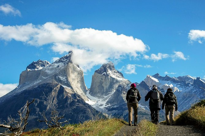 """Explore the highlights of Torres del Paine National Park on this 5-day self-guided tour departing from Puerto Natales.<br>Ideal for nature and trekking lovers, the unmistakable geography of this park places the W circuit as one of the most recognized worldwide and one of the most interesting places in the southern hemisphere. See up close the massive granite towers that give the Park its name, walk alongside the breathtaking """"Cuernos del Paine"""" and be amazed by the stunning shapes of the """"Francés Valley."""" Come and enjoy the awe-inspiring Grey Glacier, where the ice blends into the clouds on the horizon.<br><br>Day 1: Briefing, Transportation to Torres del Paine, lodging at Central Sector<br>Day 2: Hike to Las Torres Base, lodging at Central Sector<br>Day 3: Hike to the Francés Sector, lodging at Francés Sector<br>Day 4: Hike to the Francés Valley, lodging at Paine Grande Sector<br>Day 5: Hike to Grey Glacier Lookout Point, return in catamaran via Pehoé Lake, return to Puerto Natales"""