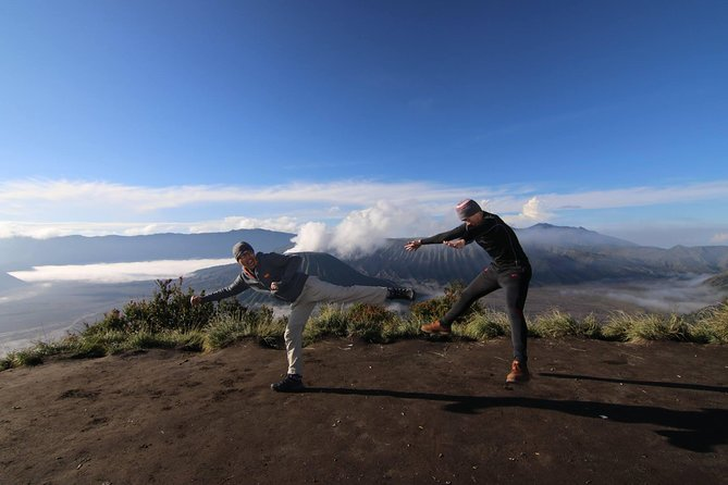 Get the best moments for sunrise moments from beauty East Java! Bromo Sunrise are waiting to give you great experience during your vacation! Only 3-4 hours driving from capital city of East Java (Surabaya City), you can reach this awesome place included also with the natural hidden village, see peoples farming, and all peoples daily activity! Starting at early morning (03:00 AM), you will use the 4 WD car and explore the sea of sand for about 45 minutes until reach to the sunrise points. Prepare your self at 05:10 AM for spectacular sunrise of Mt. Bromo which surrounding by beauty morning fog. Also enjoy the full landscape of Mt. Bromo, Mt. Batok also the highest volcano of Java Island called Mt. Semeru! Finish? Not yet! 4 WD car will take you to the Love Hills and you can see Mt. Bromo from another side with different angle. Ready for trekking? Just 1,5 Km from parking area (from sea sand), you can reach the top of Mt. Bromo, and feel your self blend with the volcano sensation!