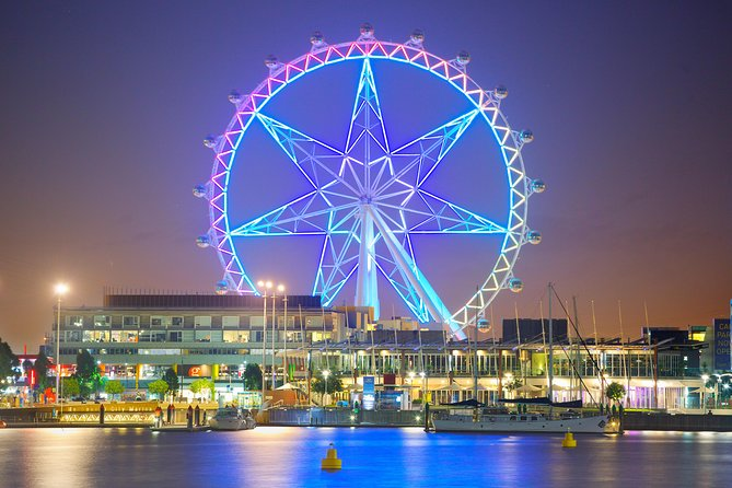 The Melbourne Star is the Southern Hemisphere's only observation wheel, offering spectacular 360-degree views of the city, and a sky-high experience like no other! Standing at a staggering 120 metres tall, this is Melbourne like you've never seen it before. <br>One of only four giant observation wheels in the world, the Melbourne Star is a must-see attraction for locals and tourists alike. Hop into one of 21 spacious, temperature-controlled cabins and take it all in as your audio commentary offers a quick history of the various landmarks below. <br>Through floor-to-ceiling windows you'll enjoy unobstructed vistas reaching up to 40km, from the city and Port Phillip Bay through to picturesque Mount Macedon and the stunning Dandenong Ranges. Day rides offer stunning visuals of city to sea, while night flights sparkle under the bright lights of the city. <br>** GUESTS TRAVELLING FROM 18TH JUNE 2020 AND 31ST AUGUST 2020 WILL BE PROVIDED WITH A COMPLIMENTARY HOT OR COLD BEVERAGE***