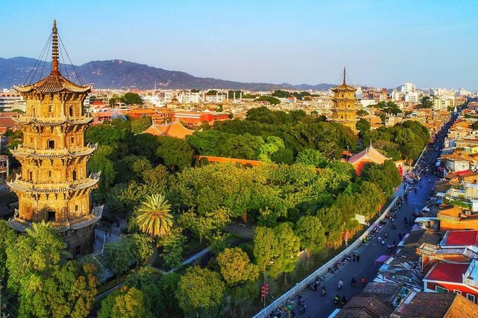 """Spend a full day with a fully-licensed guide to visit the top famed attractions in Quanzhou which was once an international port city on the maritime Silk Route. Marco Polo regarded the location as """"one of the ports of the world with the biggest flow of merchandise"""". As the starting point of the Sea Silk Road, it accepted diverse religions including Christianity, Islam and Manichaeism, and today Quanzhou is called 'World Religions Museum'. Climb Qingyuan Mountain which is known as """"No.1 Penglai Mountain in Fujian Province"""" and the """"Back garden of Quanzhou"""", take a stroll around Kaiyuan Temple, one of China's largest and most important Buddhist temple, and visit The Quanzhou Maritime Museum which is an ideal place for you to have a panorama view of trading history of Quanzhou and the development of Chinese shipbuilding. Enjoy the flexibility of the custom-built private tour and explore the city at your desired way and pace."""
