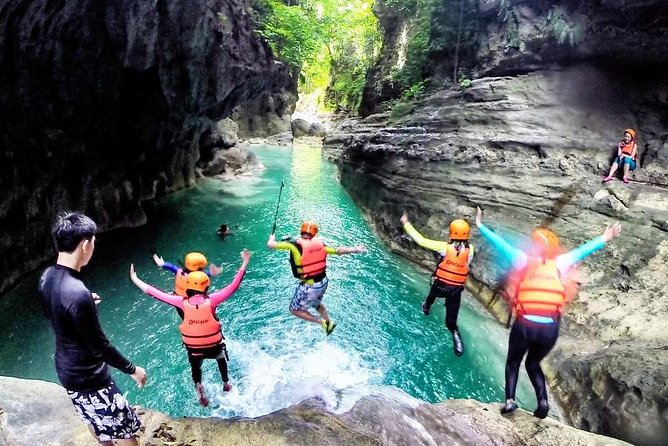 Whale Shark Encounter & Sumilon Sandbar & Canyoneering in Kawasan Falls, ,