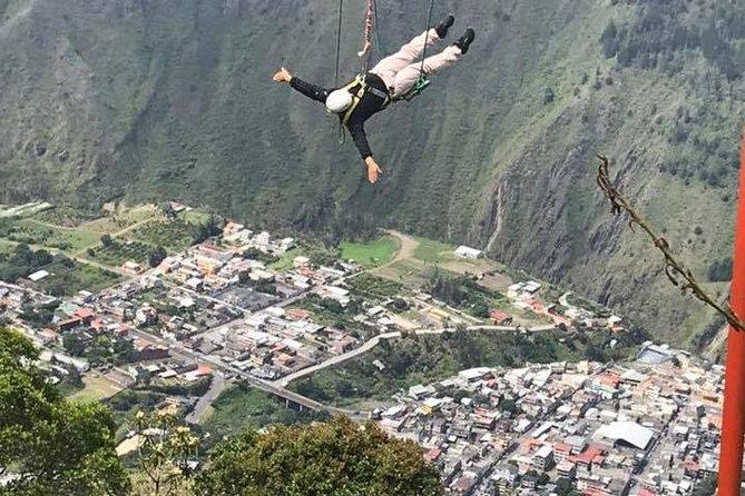 3 Columpios Extremos 75m , 60m, 35m de vuelo a 2500 m de Altura, Baños, ECUADOR