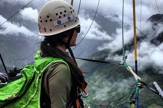 COLUMPIOS EXTREMOS GIGANTES DESDE 60 m ,50 m, 20 m DE VUELO A 2500 DE ALTURA, Baños, ECUADOR