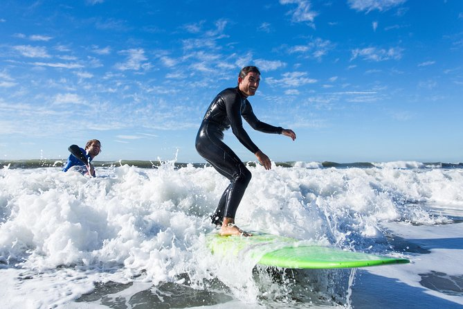Learn to surf in beautiful Santa Barbara! Your expert instructor will teach you how to stand up on your board and ride the perfect wave, offering tips on balance while ensuring your safety. All skill levels are welcome, and equipment rental is included. This Southern California city offers great outdoor activities like surfing year-round.