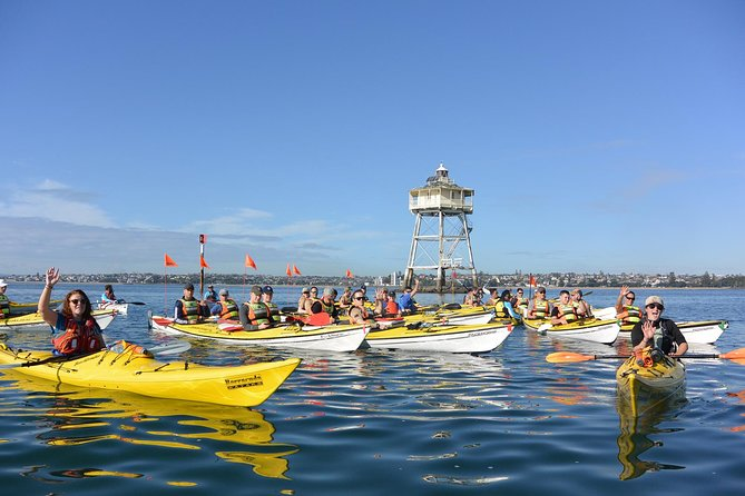 This 6-hour sunset tour is a classic kayaking adventure. You will embark on a 75-minute paddle across Auckland's Waitemata Harbour, followed by a 45-minute guided walk up to the crater of Rangitoto for a 360 degree vista of Auckland's skyline and the islands of the Hauraki Gulf.