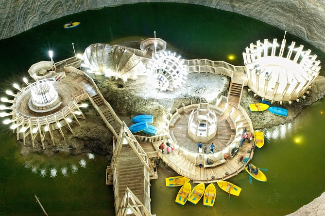 Delve into the coolest underground theme park in the world and visit the star-shaped Alba Carolina Fortress in a one-day trip from Cluj-Napoca.