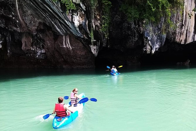 This is a kayaking tour with a difference. This trip takes you from Lanta to the beautiful islands. <br><br>The tour starts with a pick up from your hotel at 8 - 9 am. You will be transferred to Tungyeepeng pier (on Lanta's northeast coast) where we board the longtail boat and head to Ko Aung. Enjoy floating by kayak into the Mangrove Forest of Thungyeepheng. This is a beautiful spot for exploration, monkey feeding, unique lizard and colourful bird watching.  We then continue to Aung Island to explore Koh Talabeng Sea Cave by kayaking, after which, we end our exploration at Bu Bu Island, to enjoy a delicious Thai style lunch and some relaxation on the beautiful beach at Ko Bu Bu.