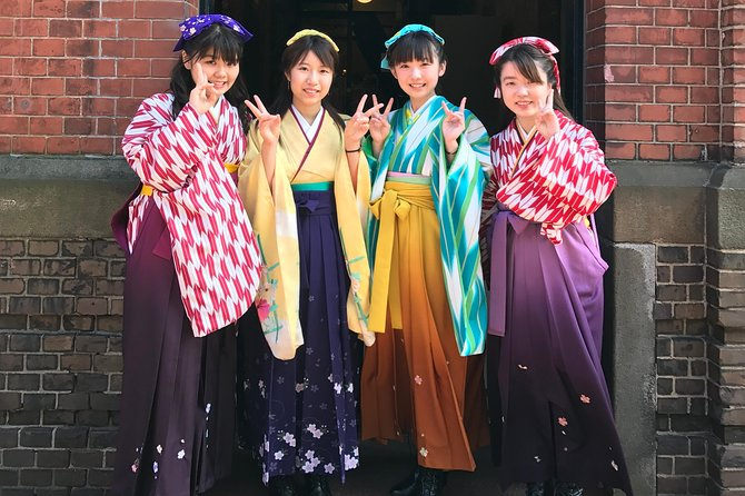 """【OUTLINE】<br>You can have an authentic experience to dress like a Japanese in the 19th century in Hakodate. Rest assured that the dressing staff is all professional, kind, and courteous. First-rate beauticians will have you makeover beautifully. The most recommended style is 'Hakama' costume called """"Haikara-san."""" You will have an hour of free time. Walking around the quarter with nostalgic warehouses, you will feel like stepping back in time. There are plenty of locations perfect for Insta-worthy photos. Make great memories of your trip to Hakodate! <br><br>【HIGHLIGHTS】<br>・First-class beauticians will have you transform beautifully<br>・Choose your favorite from 430 of gorgeous costumes<br>・A hair arrangement is included<br>・Wear the costume over your clothes (The easy and quick dressing is welcomed)<br>・Many Instagrammable locations are close by"""