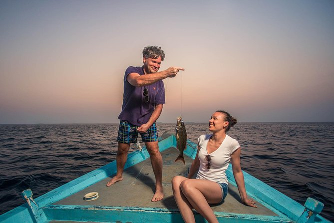 Guest can enjoy beautiful sunset & this tour includes fishing gear & bait-fish. Our tour leader will help you for fishing & teach you the techniques. Enjoy the fun of Fishing in the Maldives. You can add BBQ Dinner with additional USD25 per person.