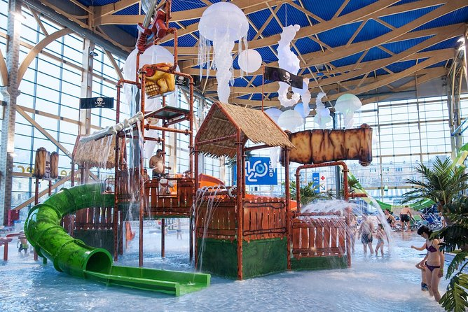 In the aqua area you'll find a variety of pools and slides, and the bath area has Russian, Turkish, Roman, Salt and other kinds of baths.
