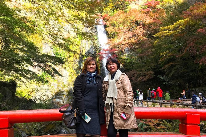 """This walking tour is about 4 hours in total, away from the hustle and bustle of the big city Osaka. You can enjoy the seasonal nature while hiking. It is about 30 minutes from Osaka by the train on the Hankyu line. Mount Minoo a wide monumental park, """"Mino Park"""", which has a beautiful waterfall, """"Minoo Waterfall"""" that has been selected as one of the best waterfalls in Japan. Around the waterfall you can enjoy various sceneries throughout the four seasons from the fresh green in spring, up until the beautiful autumn leaves in autumn.<br><br>Minoo Park was designated as a quasi - national park on December 11, 1967 as one of the Meiji 100th year commemorative project. A treasure trove of natural habitats of around 1,300 kinds of plants, 3,500 insects, a lot of wild birds, mammals, amphibians, reptiles, fishes, etc surround the park. The special natural monument, the Japanese salamander, also inhabits the mountain area of Minoo."""