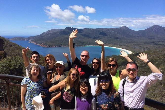 Our tours offer guests an active day walking in nature while enjoying the beautiful surrounds . On this tour we Visit Wineglass Bay & Freycinet National Park with opportunities to enjoy the local seafood, ice-cream & history along the way. Tour itineraries are fast paced and active designed to fit in as much as possible into the day, including hiking, sightseeing, and many stops along the way. We do offer shorter walking options for our guests wanting an easier day out.<br><br>Highlights<br>• Explore Freycinet National Park <br>• Walk to the spectacular Wineglass Bay Lookout <br>• Option to extend your walk to the white sands of Wineglass Bay <br>• Visit beautiful Honeymoon Bay <br>• Take in the spectacular 360 degree views on the Cape Tourville Lighthouse Walk <br>• Enjoy some fresh oysters from the Marine Farm <br>• Reward yourself with local hand-crafted ice cream or a famous Tasmanian Scallop Pie at the end of the day!<br>• Visit the historic town of Campbell Town and the Convict Brick Trail.<br>