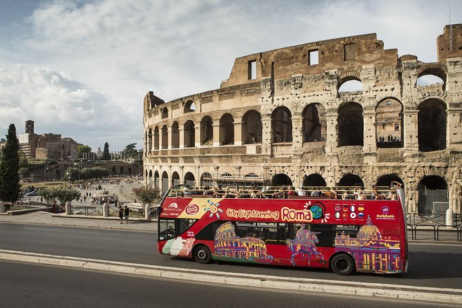 Let the sights of Rome unfold before you on an open-top, double-decker, hop-on hop-off bus. Climb aboard to admire top Rome attractions including the Vatican City, Colosseum and Trevi Fountain on this comprehensive tour. Enjoy 360-degree views from the open deck and hop on and off as you wish at any of the eight stops. Choose 1 Day, 24, 48 or 72 hours of sightseeing, and if you opt for a 48-hour ticket, upgrade to include entrance to Rome's showpieces such as Vatican Museums, Sistine Chapel and Colosseum. <br><br>Download now Sightseeing Experience APP: an easy and practical way to orient yourself, move, visit and discover the city.<br><br>Inside the APP you find a free walking tour of the center available in 5 languages and an interactive map that shows you the position of the buses in real time, the waiting time at each stop and your position so you can easily reach the nearest stop.