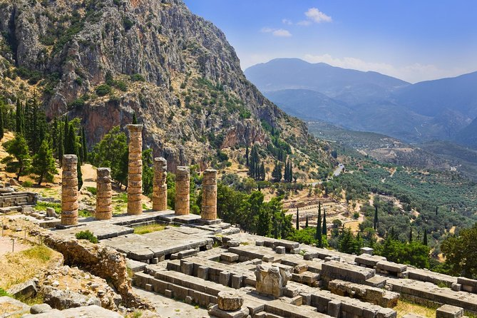 Visit Delphi – one of the most important archeological sites in Greek history – on this full-day trip from Athens! Traveling with an expert guide, in the museum (very important notice) and at the Archaelogical site. You'll explore the UNESCO World Heritage-listed town, home to the Temple of Apollo, and stroll around Delphi Archeological Museum. Learn all about Greek mythology and history while seeing fascinating monuments, and visit the pretty town of Arachova on the journey back to Athens