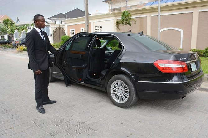 EnjoyLagos by yourself !! <br><br>Our Chauffeur services offer our customers a high-class and extra-comfortable journey in our<br><br>BusinessCar Mercedes E Class or similar(up to 3 passengers) or our<br><br>LuxurySUVToyota Land-Cruiseror similar (up to 5 passengers), including pick up and drop off inIkeja, Ikoyi, Victoria Island orLagos International Airport LOG.<br><br>Whether it's for a business trip, sightseeing, or a shopping day out, exploreLagos with ease with this private 12-hour chauffeured service. Hop aboard your vehicle atyour hotel or accommodation,thenspin through the city streets with a private driver.