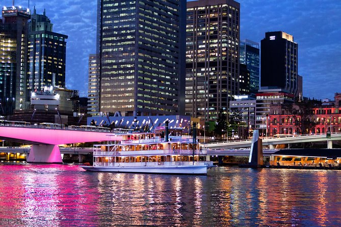 See the highlights of Brisbane from the water on a dinner cruise aboard a majestic wooden paddlewheeler. Enjoy live entertainment and a contemporary buffet menu that features fresh produce, then stroll along the deck for unobstructed views of the waterfront as it twinkles at night. It's the perfect way to spend a night out with a romantic partner, loved ones, or friends visiting from afar.