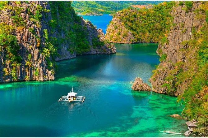 From the historical significance of World War II sunken ships, to the pristine coral reefs and the scenic coastlines, something for all adventure seekers.<br><br>ITINERARY<br>1ST DAY: CORON TOWN TOUR<br><br>Mt Tapyas View Deck<br><br>Maquinit Hot Spring<br><br>Public Market<br><br>Town Plaza<br><br>Lualhati Park<br><br>Souvenir Shops<br><br>St. Augustine Church<br><br>Harbour Center<br><br>Cashew Harvest<br><br>2ND DAY: ULTIMATE CORON ISLAND TOUR<br><br>(CORON MUST-SEE)<br><br>Kayangan Lake<br><br>Twin Lagoons<br><br>Balinsasayaw Reef<br><br>Skeleton Wreck<br><br>Malwawey Reef & Coral Garden<br><br>CYC Beach<br><br>3RD DAY: REEFS AND WRECK TOUR<br><br>(WRECK + BEST REEFS + BEST BEACH)<br><br>Pass Island<br><br>Lusong Gunboat<br><br>Lusong Coral Gardens<br><br>INCLUDES<br><br>Round-trip (airport-hotel-airport) transfers<br><br>Air-conditioned van for pick-up and drop off to and from hotel<br><br>2 buffet picnic lunches for 2 whole days island hopping tours<br><br>2 local delicacy snacks during half day tours<br><br>Tourist boat with professional vest<br><br>All permits and entrance fees<br><br>Mask & snorkel gears, Hotel Accommodations are NOT INCLUDED<br><br>