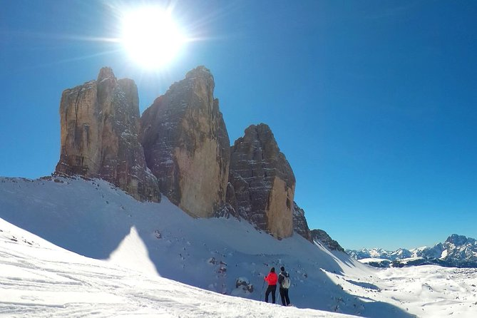 Enjoy a nice private snowshoe-tour in the Dolomites!<br><br>In our company you can snowshoe safely in the Dolomites: you will learn how to use the snowshoes, how to walk on easy and safe trails, and how to enjoy the winter in the Dolomites!<br><br>You will only need a backpack, a pair of hiking shoes and the desire to discover the Dolomites during the winter season. Together we will enter the snow-covered woods, we will hike on easy and white trails and eventually reach a warm place where we can have something to drink or eat.<br><br>Get ready to enjoy the true magic of winter in the Dolomites!<br><br>All our snowshoe-tours are private and personalized for you and your friends. Once you have booked, no other person can join!