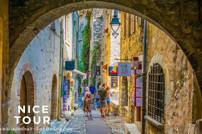 Explore the French Riviera and get a feel for a bygone era at villages such as Tourrettes-sur-Loup and Mougins. Stroll the medieval streets and admire the stone façades and fragrant flowers of some of the prettiest settlements in France.<br><br>Stop at the Waterfalls of Saut Du Loup and continue to Gourdon to discover one of the most impressive villages in the country. See its magnificent castle perched on rocks 750 meters above sea level.<br><br>Next, learn how olive oil is produced and taste different varieties of olives and other delicacies at the Moulin d'Opio mill. <br>Visit Grasse city, the world capital of perfumes. You will enjoy a free guided visit to the perfume factory and/or the village center.<br><br>Finish the experience with a visit to Saint-Paul-De-Vence. Marvel at the 'jewel of Provence', and observe the place where many painters and artists have been.