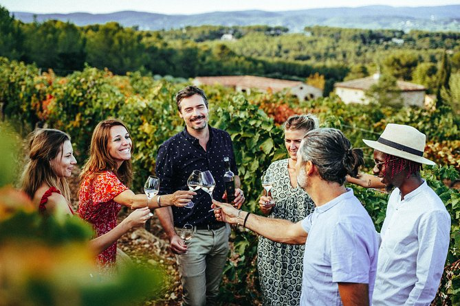 Escape the city, and enjoy an indulgent introduction to the wines of Provence: this full-day, small-group tour makes exploring and tasting simple. <br><br>Following pickup from your Nice or Mougins hotel, travel aboard a comfortable, air-conditioned vehicle. With your expert wine guide, you'll enjoy tours and tutored tastings at three different wineries, including an historic, Cru Classé Château and a boundary-pushing, natural wine producer (Nice region). <br><br>Sip delicious Reds, Whites, and of course Provence's famous Rosé wines, and pause for lunch in one of the vineyards (lunch own expense).<br><br>Pick up at 9.30 am in Nice or at your accommodation.<br><br>Highlights:<br><br>• Leave all the driving and planning to someone else on this seamless tour<br>• Round-trip transit from your hotel/villa in air-conditioned comfort<br>• Introduction to Provence wines with you expert wine guide<br>• Visit three top wineries, and enjoy behind-the-scenes tours and tutored tastings<br><br>