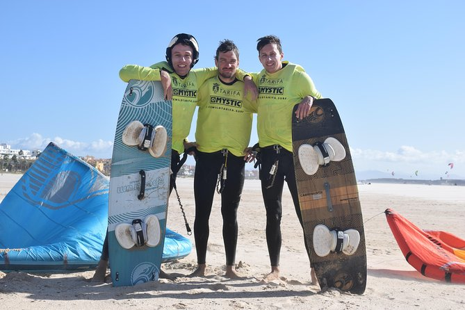 Group Kitesurf Intermediate Course, 9 Hours.<br>1x Coach, 4x Students, 2x Kites. <br><br>Discover the basics of kitesurfing in 3 days with the premier kite school in Tarifa with 10+ years of experience.<br><br>Group lessons is the best way to discover the basics of kitesurfing if you want to share the experience with friends, family or workmates and you don't care to share the kite coach.<br><br>- Official Kitesurf School Tarifa<br>- Wireless Bluetooth Communication System<br>- Insurances<br>- Rescue boats<br>- Professional team licensed by IKO/FAV<br>- Premium brand new Kitesurf equipment<br>- Snacks and bottles of water<br>- GoPro and WOO Sports (optional)<br>- International Kitesurf Certification