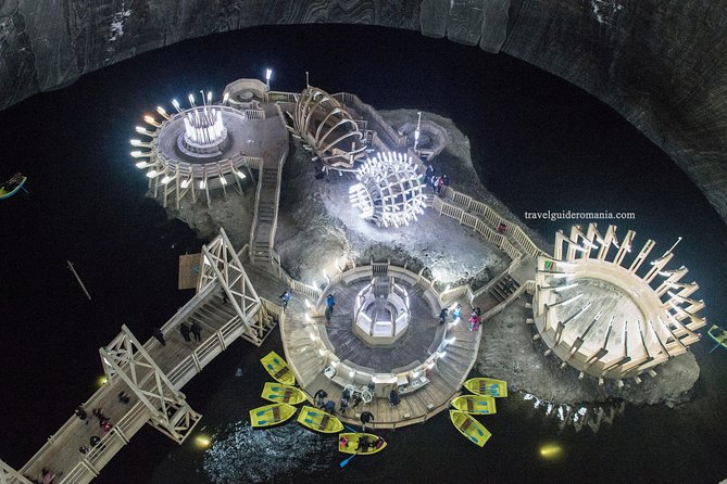 There, 400-feet underground, you'll find a theme park that looks straight out of a sci-fi movie. This unique attraction includes:<br><br>a large amphitheater,<br>a Ferris wheel,<br>a bowling alley<br>a mini-golf course<br>pool tables<br>a sport's field<br>ping-pong courts<br>an underground lake you can explore on a paddle boat.