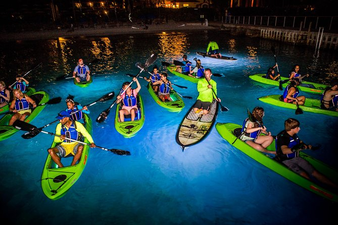 Paddling during the day under the sun is of course a blast... But Night Paddling is something very unique. From the moment you get into your glowing kayak, begin paddling under the stars, and can hear the invisible orchestra of frogs... You will know you've set out on an adventure you will not soon forget! What are you waiting for, #letsGLOW !