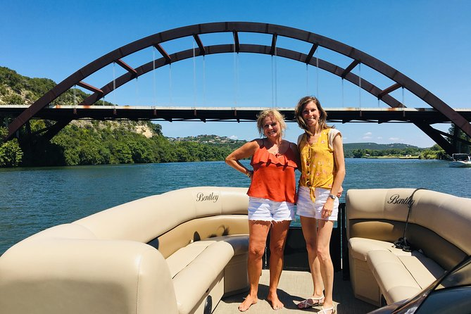 Come experience the beauty of Lake Austin on a private, partially guided pontoon boat tour. Reserve the boat for up to 10 people and for 2 hours, you can enjoy fun times on the lake! Whether you're looking for bachelor / bachelorette, graduation or birthday party or some quality family time - this is the perfect option for you and your group. Included is the boat rental, your Captain and non-alcoholic beverages.