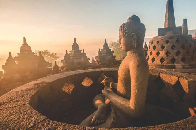 Beat the crowds during daytime and enjoy the magical sunrise view over Borobudur, the largest Buddhist monument in the world.