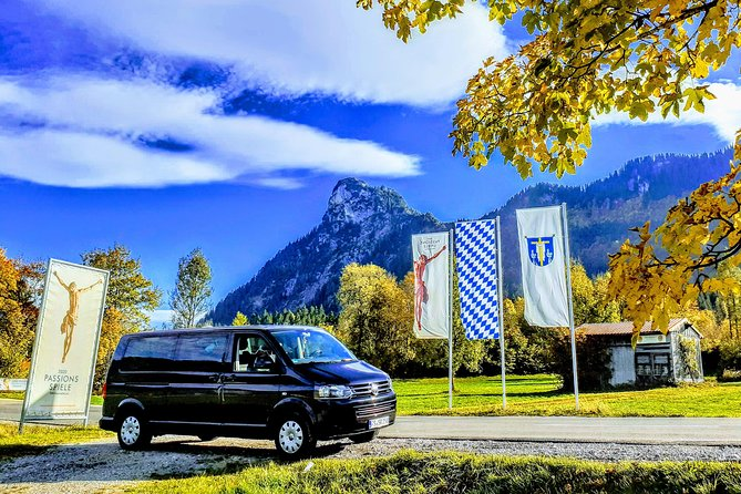 "This private sightseeing trip leaves nothing to be desired. With this unique customizable offer you can easily visit the most beautiful destinations from Garmisch-Partenkirchen or Oberammergau in just one day. Whatever your choice, you will always benefit from: <br><br>• Your licensed, friendly & experienced guide Stefan, who will give you professional and entertaining information about the history and current affairs of the visited sights, the country and its inhabitants <br><br>• Our new Volkswagen Minivan, in which you are safely and comfortably chauffeured through magnificent foothills and mountains to your various destinations <br><br>• Our smooth organization and coordination of your day (purchasing the coveted Skip-the-Line tickets, EVEN FOR NEUSCHWANSTEIN CASTLE AT SHORT NOTICE(!) / selecting scenic and convenient routes / restaurant recommendations, etc.) <br><br>Simply let us know your desired destinations or choose your favorites in the ""What to expect""-tab below and create your perfect day out!"