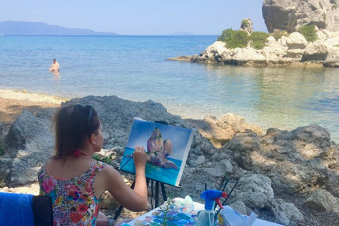 Join us for 2 DAYS PAINTING WORKSHOP!<br>Are you travelling to Cephalonia? <br>Grab the opportunity to bring out the artist in you, and book One or Two Days Painting Workshop!<br>Live the experience of the pure light and let your imagination be motivated by the endless hues of the landscape when you are visiting Cephalonia!<br>Artist Natasha Metaxa welcomes art lovers in MetaxArt Studio, located by the seaside in the picturesque Poros village in Cephalonia island. <br>This painting class is open to all artistic levels. <br>Don't worry MetaxArt provides all the art supplies and equipment!<br>MetaxArt workshops are organised according to the needs of the students. We can arrange 2 days painting workshops, on special dates under your request which could be held either at Poros or at a place indicated by you. <br>The duration of the One Day Workshops is 5 hours and they begin at 9.00 in the morning.<br>