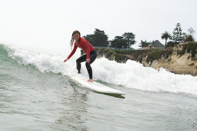 Learn to surf in Santa Cruz during a 3-hourclinic designed with the beginner in mind. Novices are welcome, as well asanyonewho hastried surfing butcould use some tipsfor balancingon the board and catching a wave. You'll getplenty of practice with paddling and pop-up techniques while learning about wave breaks, ocean conditions, and safety in and out of the water, including surfetiquette.Includes all necessary equipment.