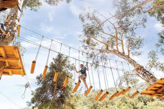 People are taking to the trees on Catalina Aerial Adventure, a unique and challenging outdoor experience at Descanso, SoCal's favorite island entertainment and adventure destination. Catalina Aerial Adventure is just a short stroll from Descanso Beach Club, but you'll feel like you're deep in the woods, as you climb, swing and crawl through a series of challenging obstacles suspended in a grove of towering eucalyptus.<br><br>Five self-guided, self-paced courses—each made up of rope ladders, log bridges, balance beams, zip lines, and other elements—are arranged in beginner (2), intermediate (2) and advanced (1) configurations, offering aerial excitement for everyone, regardless of skill or athletic ability.
