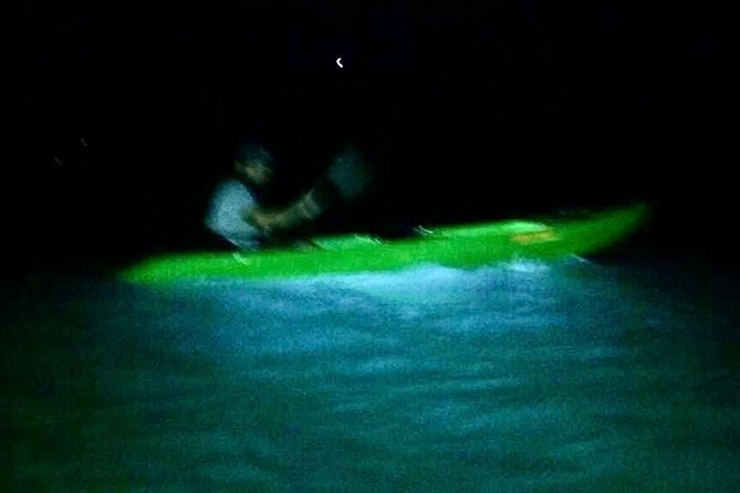 Vieques Kayaks Bio Bay excursions are guided in clear bottom kayaks through the glowing waters of Mosquito Bay, located on the island of Vieques, Puerto Rico. Mosquito Bay is the brightest Bioluminescent Bay in the world! Our excursions depart nightly at 7pm and 9pm. We do not operate during full moon. Book now to paddle the GLOW with Vieques Kayaks Bio Bay excursions, where the Bio Bay is the star!