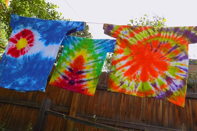 This awesome throw-back art form is sure to bring out the kid in everyone! Participants leave with a t-shirt that is dyed and ready to be washed out and worn. The shirt comes with wash & care instructions. Create a shirt as unique as you are!