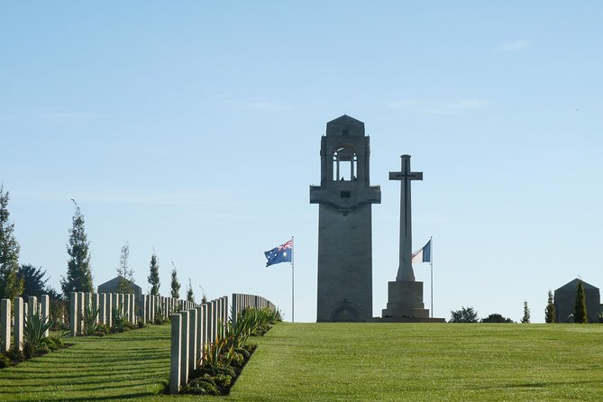 """This tour covers the major sites of the Battles of the Somme in 1916 and 1918, it's an easy day trip coming from PARIS for the day (1h10 by train). Our tours start and finish just outside the AMIENS train station. <br><br>Our first stop is at Villers-Bretonneux to visit the Australian memorial and the new John Monash centre (if open on that day), then drive on the 1918 battlefields to discover the sites of the August 1918 allied counter-offensive. After a lunch stop at Albert, we cover the sites of the 1916 battle: the impressive """"Lochnagar"""" mine crater, Pozieres, the Thiepval memorial to the missing and the preserved battlefields of Beaumont-Hamel.<br><br> Our tour groups are kept to small size ( up to 8 people)"""