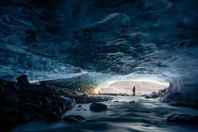 Explore the beauty of the Vatnajökull glacier. This in-depth tour takes you into crystal ice caves, crevasses, moulins and even up to the glacier wall. Gear up with a harness, crampons, and ice axe to get up close and personal with one of Iceland's most spectacular glaciers.