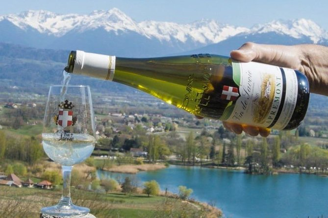 Hike on a ridge at over 4500 feet (1390m), which overlooks the Riviera des Alpes and offers wonderful 360° views of the surrounding mountains and vineyards. On a clear day, you will even be able to see the famous Mont-Blancs.<br><br>For lunch enjoy local products. This includes local pork sausages marinated and cooked in local red wine, served with wine, coffee, and an after-dinner liqueur. After you will enjoy wine tasting at the lovely and famous vineyards of Jongieux, which were recently awarded a special European label for the beauty of their landscapes. Tasting of the famous local wine - Marestel Cru.