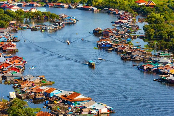 We travel southeast to one of the largest and least-visited villages on the Tonle Sap Lake, Kompong Khleang, about 55km from Siem Reap. It has a population of about 10,000 people, all of whom make a living from the fishing industry