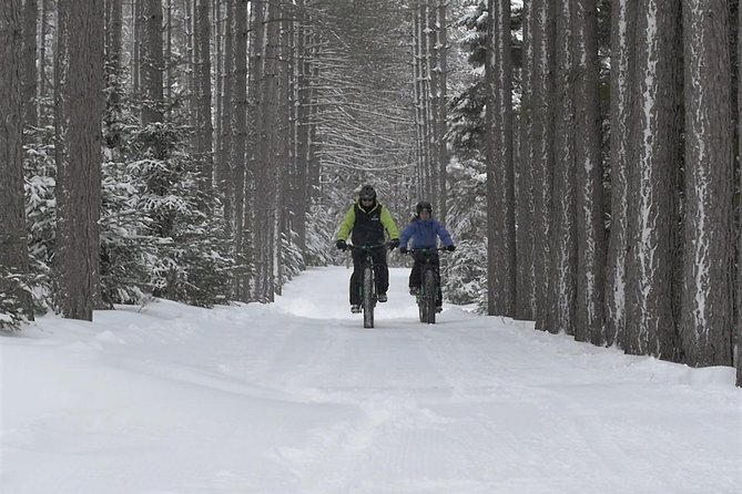 On this tour, you can enjoy the pleasures of winter in a whole new way, This electric powered bike is specially built to traverse the winter terrain for a truly unique experience through the trails of Mont-Tremblant.