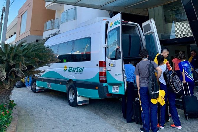 ABOUT THE COMPANY<br><br>Marsol Transportes is the leading company in special passenger transport on the Colombian Caribbean coast. We have daily services to and from Barranquilla, Cartagena, Santa Marta and the tourist destinations of Taganga, Parque Tayrona Minca and Palomino (Guajira).<br><br>Luggage allowance: 2 bags weighing up to 25 kg in total<br><br>