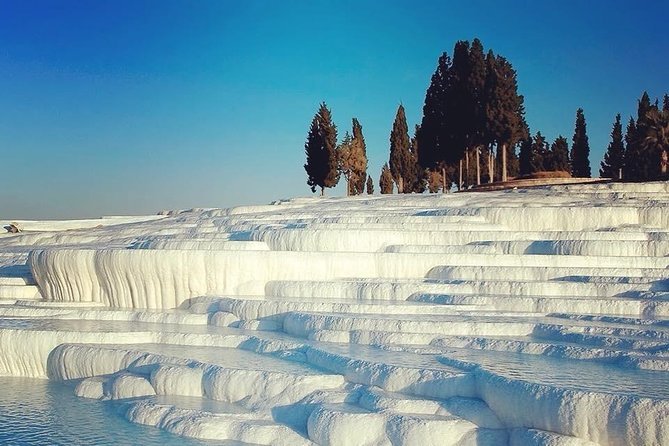 Enjoy an amazing experience with spectacular views of Pamukkale. .. and, you will get to witness the beautiful and unusual landscape as the sun rises over the travertines and Hierapolis. After that, relax during a lovely spa treatment
