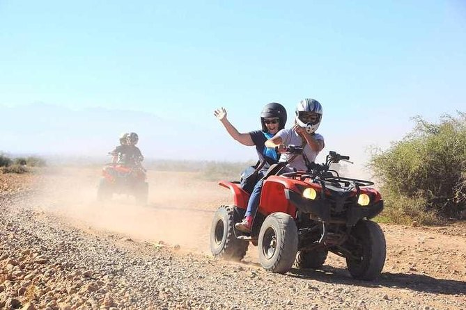 ATV Quad biking in Marrakech desert palmgrove, Marrakech, cidade de Marrocos, MARROCOS