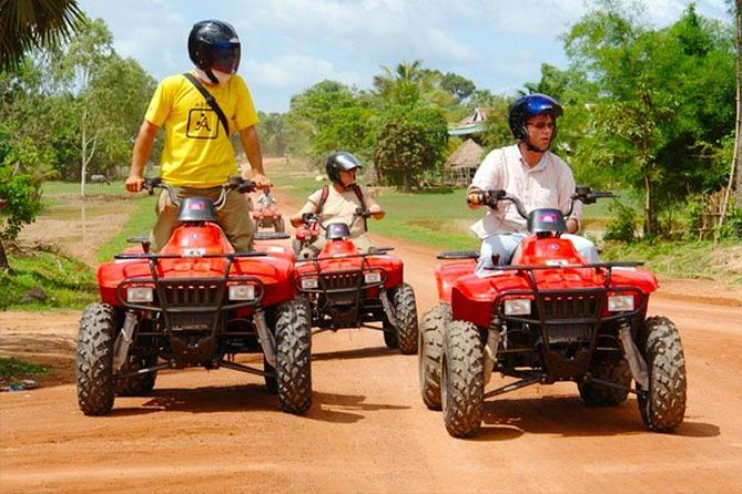 Venture off-road for a thrilling quad bike adventure on this 4-hour tour from Siem Reap. Head out of the city and discover the beauty of the Cambodian countryside on-board an easy-to-drive quad. Zip along country roads, past lush rice paddies and sleepy villages; hop off to admire the historic Prei Monti temple and watch the sunset over the distant city. Best of all: full instruction is provided, so there's no previous experience necessary!<br><br>- Ride a quad bike around the Cambodian countryside<br>- Pass rural villages, rice fields and remote temples<br>- Full instruction provided: no experience necessary<br>- This private tour ensures you'll receive personalized attention from your guide