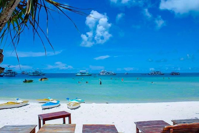 HIGHLIGHT: SNORKELING – FISHING – SQUID FISHING<br><br>Itinerary:<br>12:00 pick you up from hotel by bus or meet at Pick Up Point<br> Visit Pearl Farm (30 mins)<br> Late lunch will be service at Sao beach or on the boat<br> After lunch the boat will cruise to:<br> Gam Ghi island: Snorkeling at coral reef<br> May Rut island: Enjoy the beach<br>Sunset Fishing - Enjoy sunset (dry season)<br>Squid fishing after dinner on board<br>Our crew is happy to cook what you catch<br>21:00 Return to your hotel