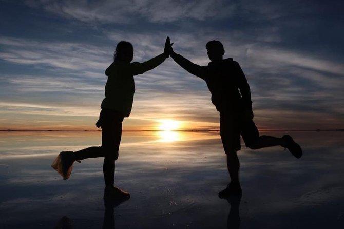 Starlight sun rise mirror effect, Uyuni, BOLIVIA